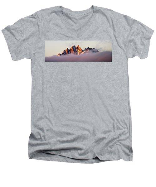 Sunrise On An Island In The Sky Men's V-Neck T-Shirt