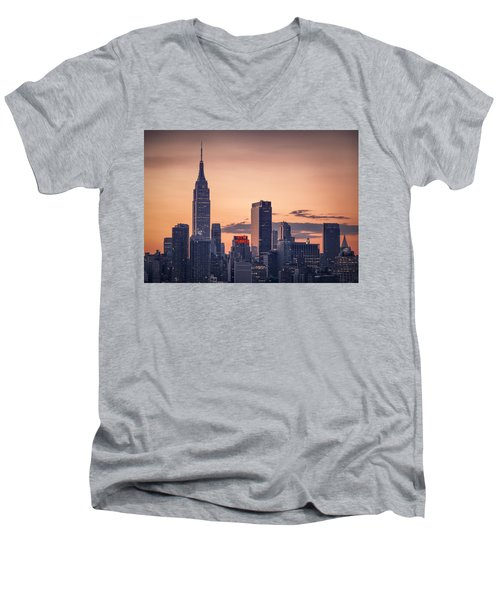 Manhattan Sunrise Men's V-Neck T-Shirt