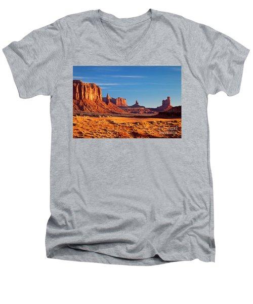 Sunrise Over Monument Valley Men's V-Neck T-Shirt
