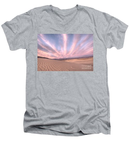 Sunrise Over Sand Dunes Men's V-Neck T-Shirt