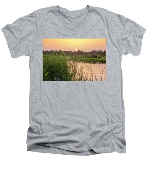 Sunrise Over The Marsh Men's V-Neck T-Shirt