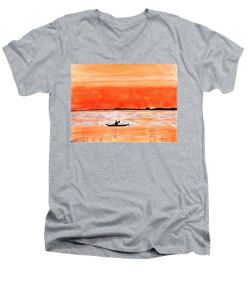 Sunrise Sail Men's V-Neck T-Shirt by Sonali Gangane