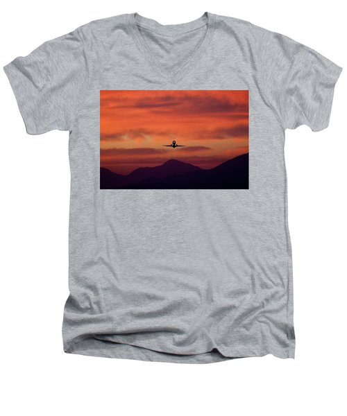 Sunrise Takeoff Men's V-Neck T-Shirt