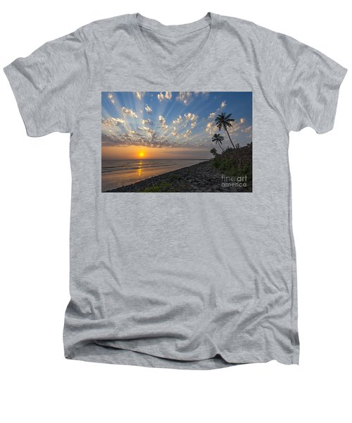 Sunset At Alibag, Alibag, 2007 Men's V-Neck T-Shirt by Hitendra SINKAR