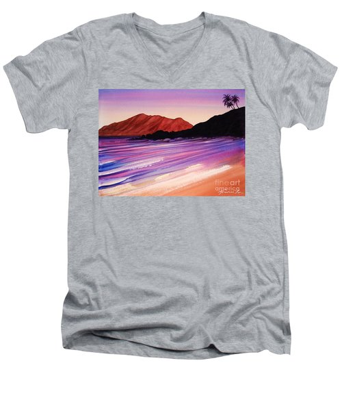 Sunset At Black Rock Maui Men's V-Neck T-Shirt
