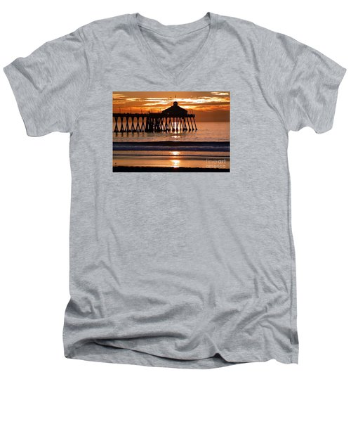Sunset At Ib Pier Men's V-Neck T-Shirt