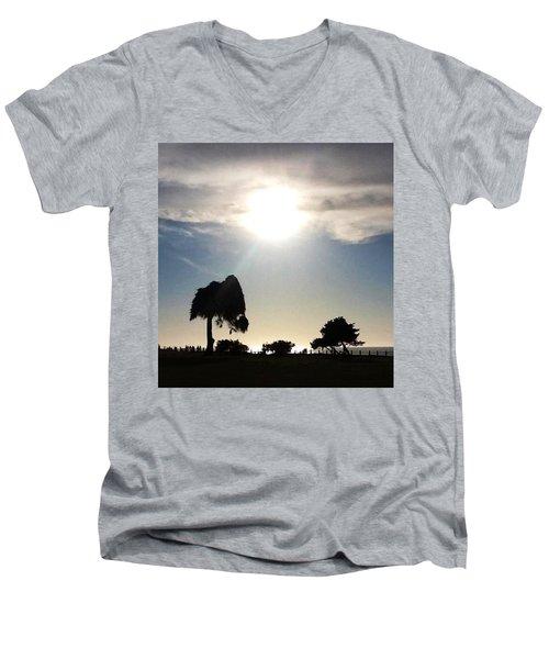 Sunset At La Jolla Men's V-Neck T-Shirt by Susan Garren