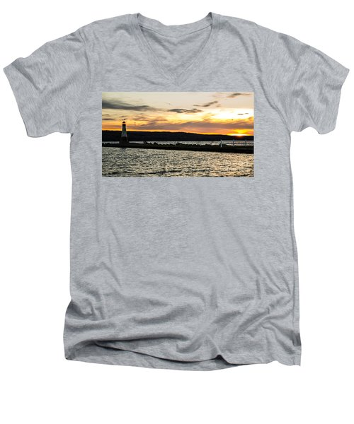 Sunset At Myers Men's V-Neck T-Shirt
