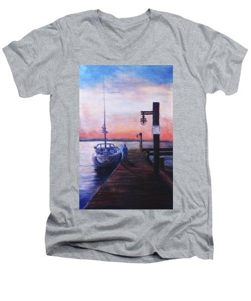Sunset At Rocky Point Men's V-Neck T-Shirt