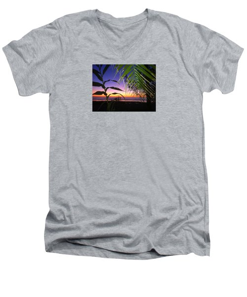 Sunset At Sano Onofre Men's V-Neck T-Shirt