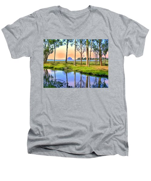 Sunset At Sweet Springs Men's V-Neck T-Shirt