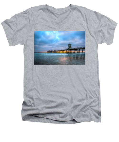 Sunset Beneath The Pier Men's V-Neck T-Shirt