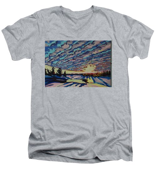 Sunset Deformation Men's V-Neck T-Shirt