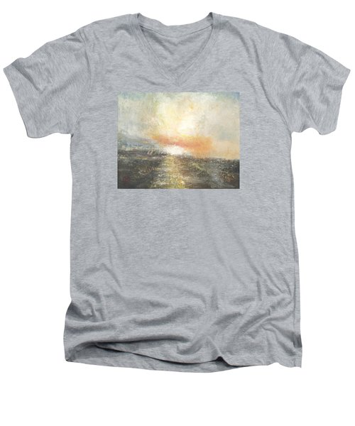 Sunset Drama Men's V-Neck T-Shirt