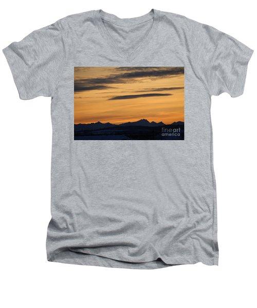 Sunset From 567 Men's V-Neck T-Shirt