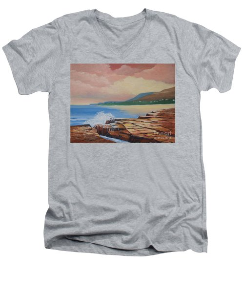 Sunset In New South Wales Men's V-Neck T-Shirt