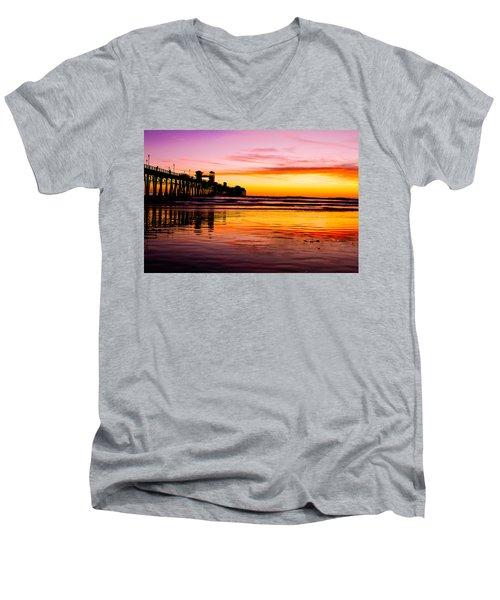 Sunset In Oceanside Men's V-Neck T-Shirt
