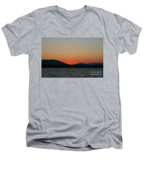 Sunset Lines Of Lake Umbagog  Men's V-Neck T-Shirt