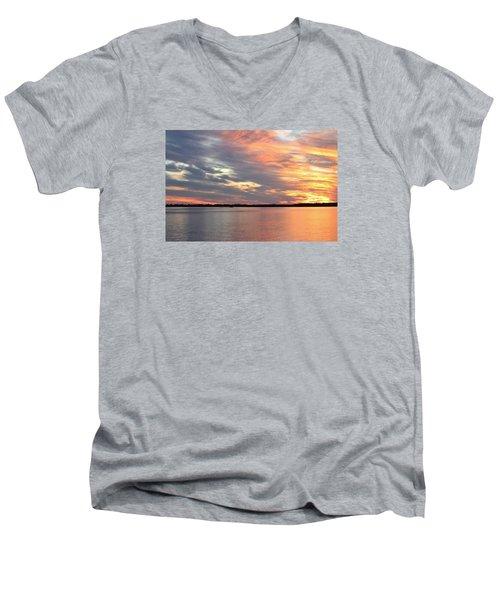 Sunset Magic Men's V-Neck T-Shirt by Cynthia Guinn