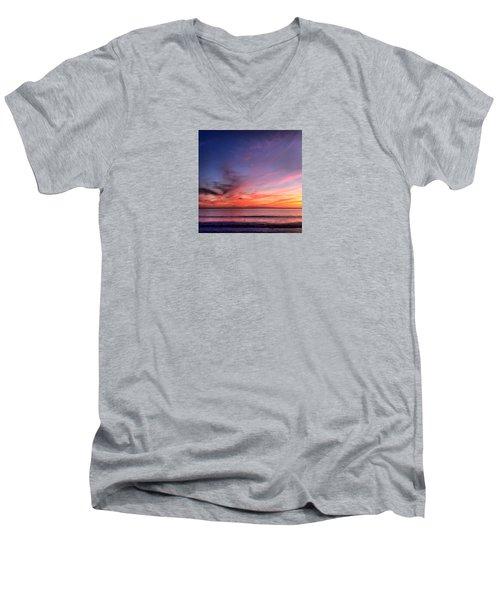 Sunset Moon Rise Men's V-Neck T-Shirt