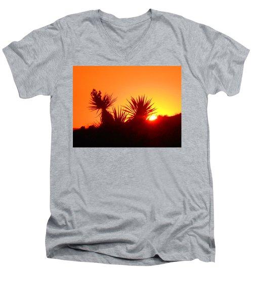 Sunset Near Castle Rock Men's V-Neck T-Shirt