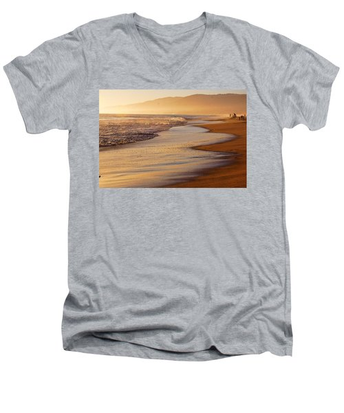 Sunset On A Beach Men's V-Neck T-Shirt