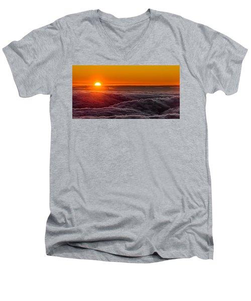 Sunset On Cloud City 1 Men's V-Neck T-Shirt