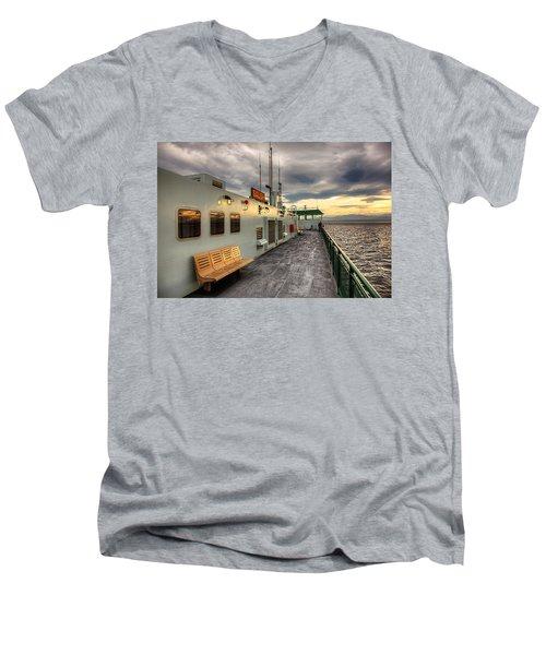 Sunset On Salish Men's V-Neck T-Shirt