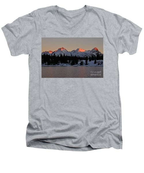 Sunset On The Grenadiers Men's V-Neck T-Shirt
