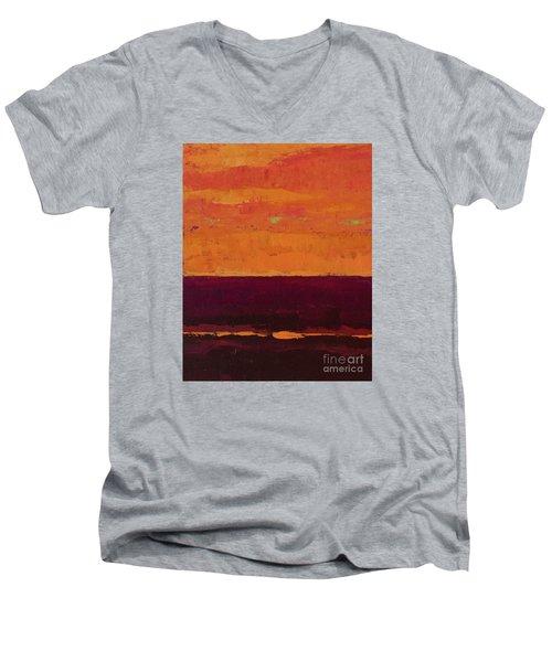 Sunset On The Pier Men's V-Neck T-Shirt by Gail Kent