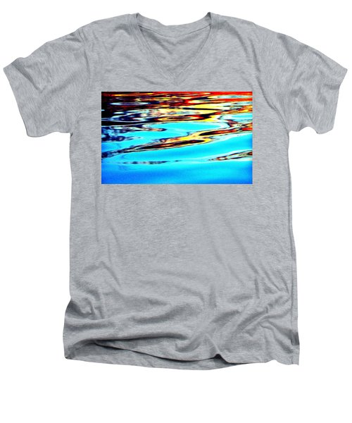 Sunset On Water Men's V-Neck T-Shirt