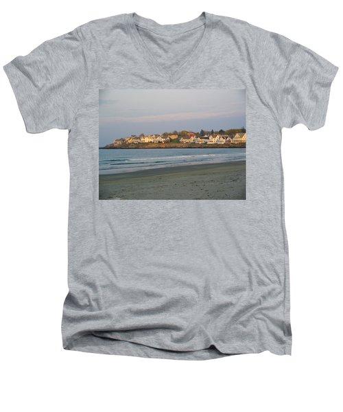 Sunset On York Beach Men's V-Neck T-Shirt