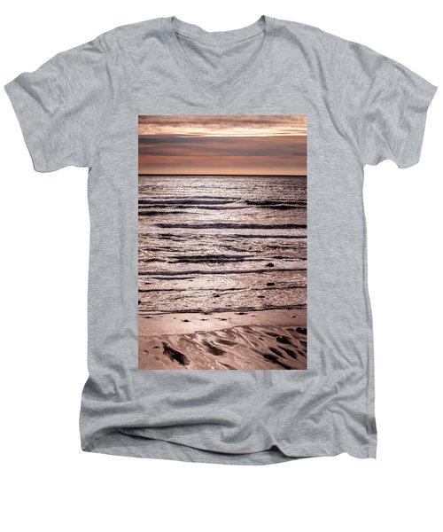 Sunset Ocean Men's V-Neck T-Shirt by Roxy Hurtubise