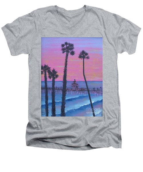 Sunset Pier Men's V-Neck T-Shirt