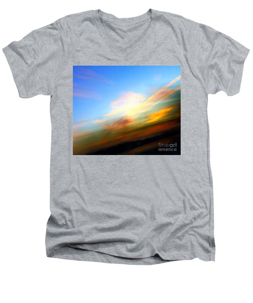 Sunset Reflections - Abstract Men's V-Neck T-Shirt