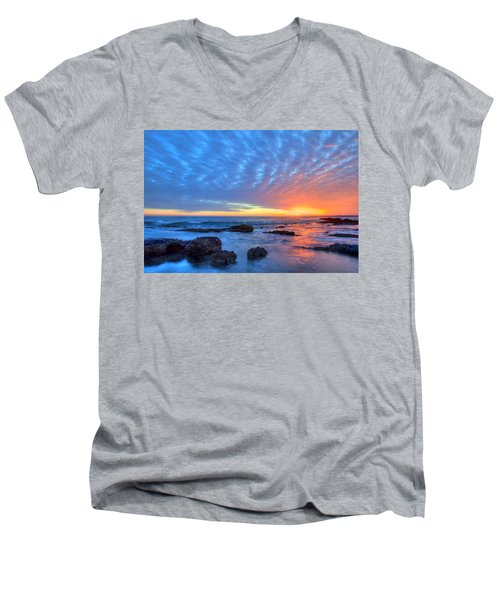 Sunset Reflections Newport Beach Men's V-Neck T-Shirt