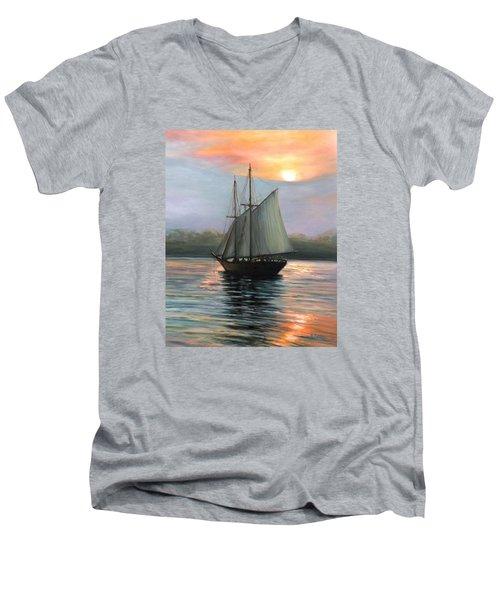 Sunset Sails Men's V-Neck T-Shirt by Eileen Patten Oliver