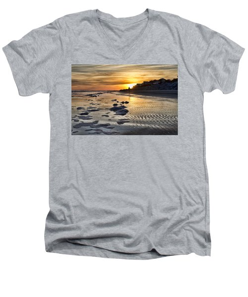 Sunset Wild Dunes Beach South Carolina Men's V-Neck T-Shirt