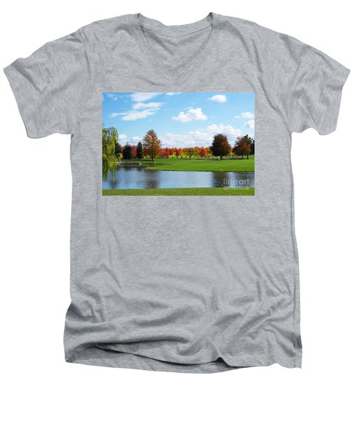 Sunshine On A Country Estate Men's V-Neck T-Shirt