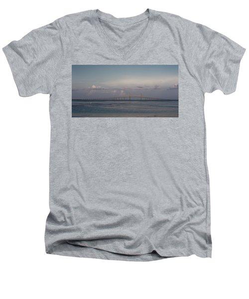 Sunshine Skyway Bridge Men's V-Neck T-Shirt