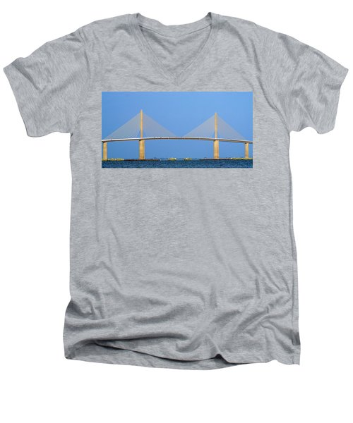 Sunshine Skyway Panorama Men's V-Neck T-Shirt