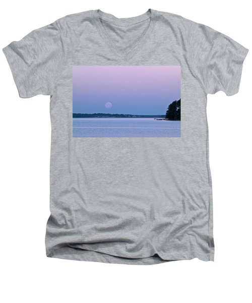 Super Moon Setting-1 Men's V-Neck T-Shirt