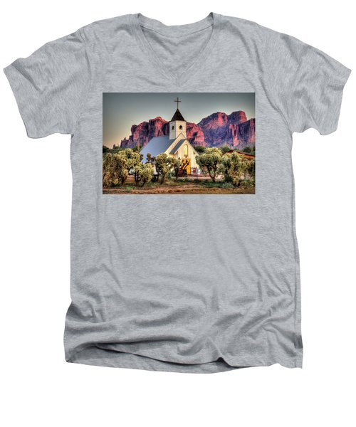 Superstitious Faith Men's V-Neck T-Shirt