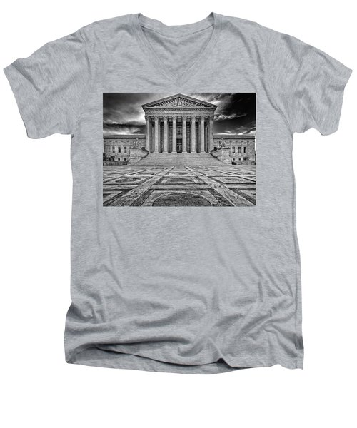 Men's V-Neck T-Shirt featuring the photograph Supreme Court by Peter Lakomy