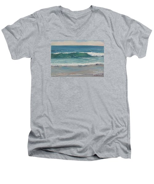 Men's V-Neck T-Shirt featuring the painting Surf Series 5 by Jennifer Boswell