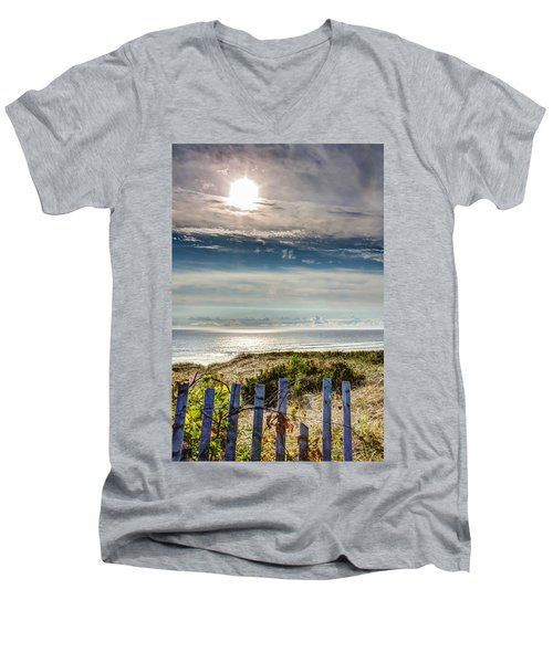 Surfers At Coast Guard Beach Men's V-Neck T-Shirt
