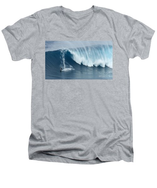 Surfing Jaws 5 Men's V-Neck T-Shirt by Bob Christopher