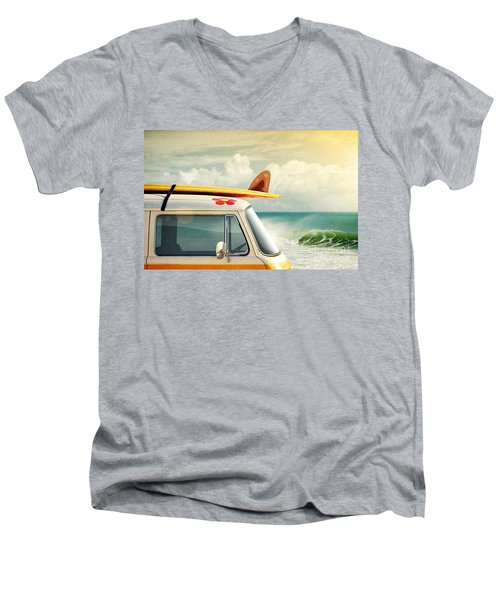 Surfing Way Of Life Men's V-Neck T-Shirt by Carlos Caetano