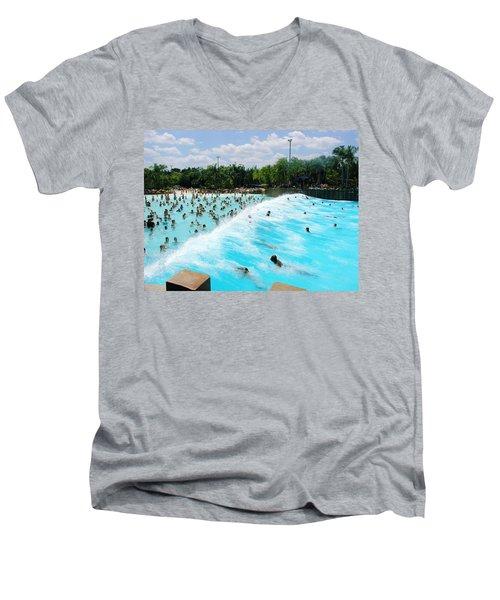 Men's V-Neck T-Shirt featuring the photograph Surfs Up by David Nicholls