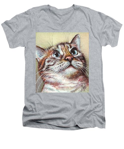 Surprised Kitty Men's V-Neck T-Shirt